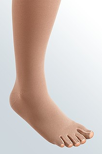 mediven 550 leg compression stockings toes cap caramel